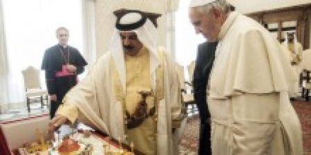 The King of Bahrain shows his model church
