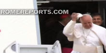 Pope arrives in US