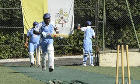 Trainee priests play cricket
