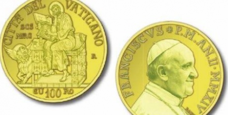 Fresh minted Vatican coins