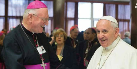 Archbishop Hart with the Pope
