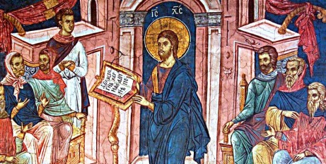 Jesus reads in synagogue