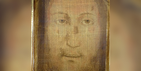 The Manoppello image said to be the image of Christ's face (Wikimedia/ElfQrin)