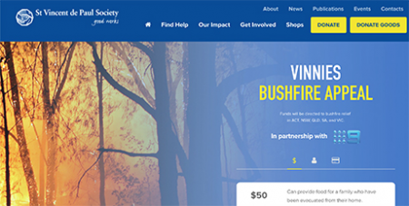 The Vinnies Bushfire Appeal has distributed $3.8m to people affected by the bushfires (Supplied)
