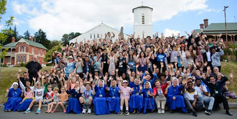 Immaculata Mission School attendees at St James' College, Cygnet, in Tasmania's Huon Valley (Hobart Archdiocese)
