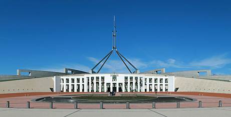 The Church Community Restoration Project met with parliamentary leaders at Parliament House in Canberra yesterday (Wikimedia/jjron)