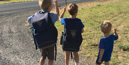 The Manninen brothers, pictured in 2018, still do not have access to a school bus (The Southern Cross)