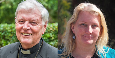 Bishop Greg O'Kelly SJ and Tammy Franks (ACBC and Wikipedia)
