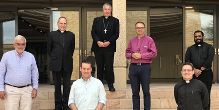 Archbishop Christopher Prowse (back row, centre) with religious leaders from the Canberra and Goulburn region (Catholic Voice)