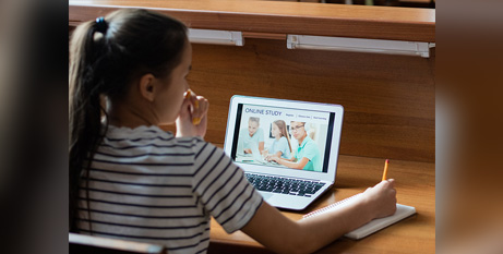 Thousands of students in NSW will switch to remote learning today (Bigstock)