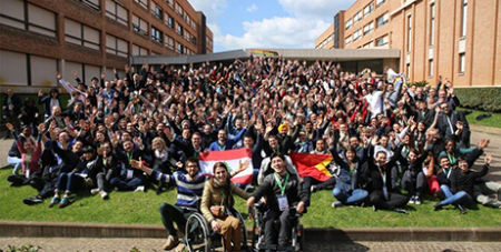 Pre-Synod participants celebrate the end of the conference (Vatican News)
