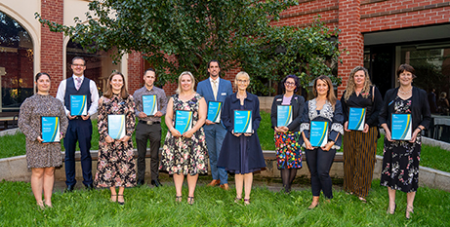 The pilot group of teachers were awarded their HALT certificates at a celebration last week (MACS)