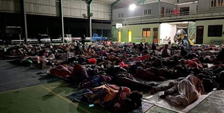 People shelter at Don Bosco Technical Training Centre after flooding in Dili (Salesian Missions Australia)