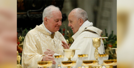 Cardinal Marc Ouellet and Pope Francis (CNS/Paul Haring)