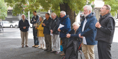 Prayer vigils were often held outside the clinic (Catholic Voice)
