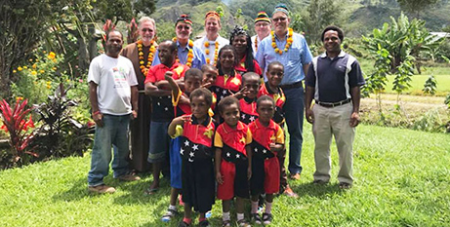 Biishops meet PNG locals at the FCBCO gathering in Port Moresby (The Catholic Leader)