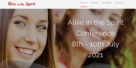 The online platform will be launched at the Alive in the Spirit conference next week (Alive in the Spirit website)