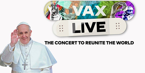 Pope Francis delivered a video message during the Vax Live concert (Vatican Media)