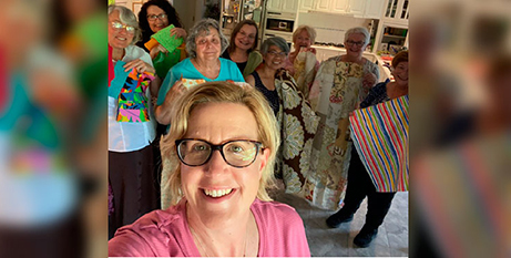 Volunteers with the NATSICC palliative care packages (The Catholic Leader/Supplied)