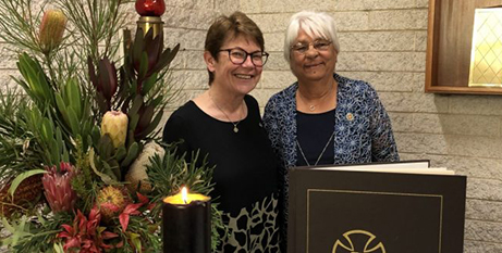 Sr Patty Fawkner SGS and Ivy Dalgety (The Good Oil)