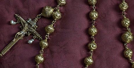 The rosary beads of Mary, Queen of Scots (ABC News/Arundel Castle)
