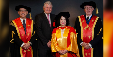 Zlatko Skrbis, Ian and Marionne MacRitchie and ACU Acting Chancellor Julien O'Connell (ACU)