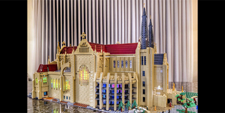 Perth's St Mary's Cathedral in Lego (The eRecord/David Lefort)