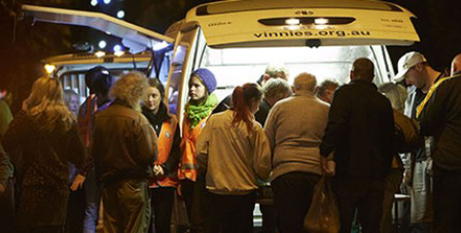 More than 116,000 people experience homelessness on any given night in Australia (St Vincent de Paul Society)