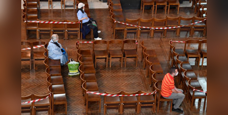 0625west People pray in London's Westminster Cathedral on June 15 (CNS/Toby Melville Reuters)