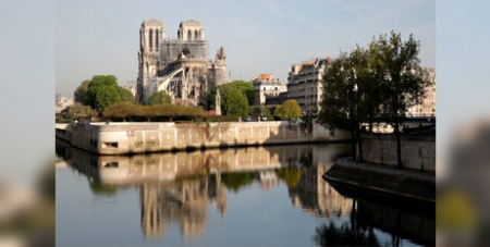 Notre Dame Cathedral three days after the April 2019 fire(CNS)