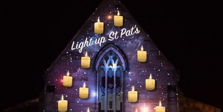 An image from the Light Up St Pats festival in 2017 (Catholic Outlook)
