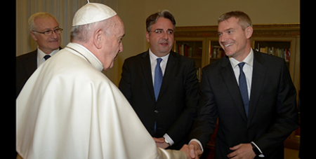 Pope Francis with Matteo Bruni earlier this year (Vatican Media)