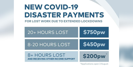 The new payments will be available from the first week of any future state or territory lockdown (Facebook/ScottMorrisonMP)
