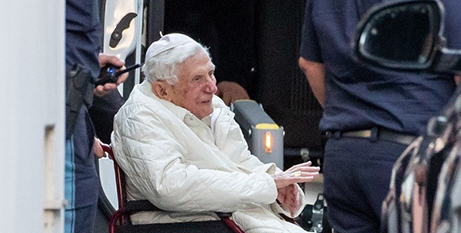 Retired Pope Benedict XVI, in Germany in June, 2020 (CNS photo/Daniel Karmann, DPA, Reuters)