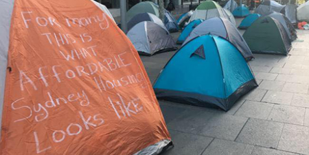 Martin Place tents (Facebook)