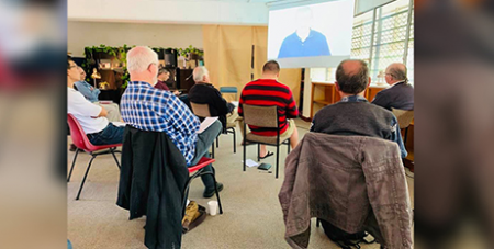 Men gathered in hubs across Australia to participate in the Catholic Men's Gathering (The Catholic Leader)