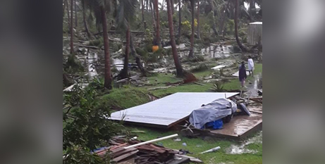Fr Asaeli Rass SVD's village in Fiji after Cyclone Yasa in December 2020 (In The Word)