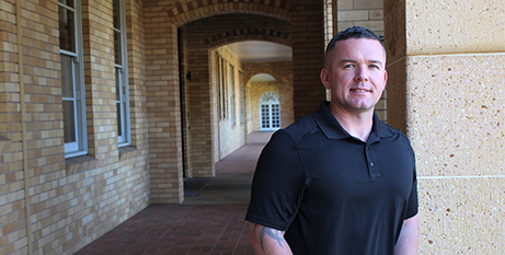 Veteran Nick will use recognised prior learning to help attain a degree in social work (ACU)