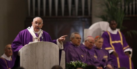 Francis in the pulpit