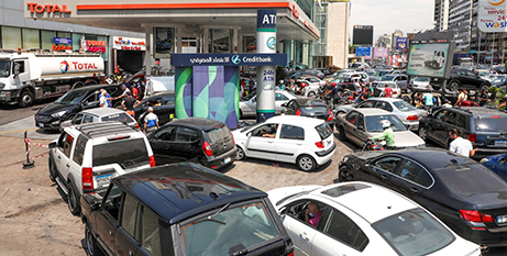 A petrol station in Zalka on August 20. Lebanon has been plagued by a crippling shortage of fuel and medicine. (CNS/Mohamed Azakir, Reuters)