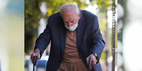 Theodore McCarrick arrives at Dedham District Court in Dedham, Massachusetts, on Friday (CNS/Brian Snyder, Reuters)