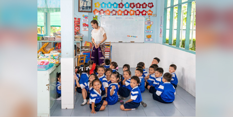 Children at the Kindergarten Centre in Thailand supported by the Good Shepherd Sisters (Catholic Mission)