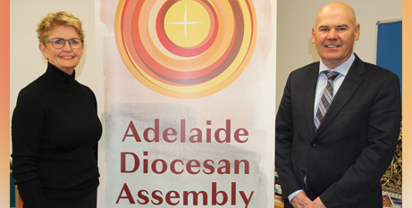 Pauline Connelly and Neil McGoran will co host this month's Adelaide Diocesan Assembly (The Southern Cross)