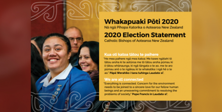 The cover of the New Zealand bishops 2020 election statement (NZCBC)