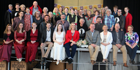 The cast and crew of the stage musical Noah (The Catholic Leader)