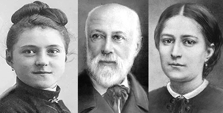St Therese of Lisieux (left) and her parents, Sts Louis and Zelie Martin (Supplied, CNS-Sanctuary of Lisieux)