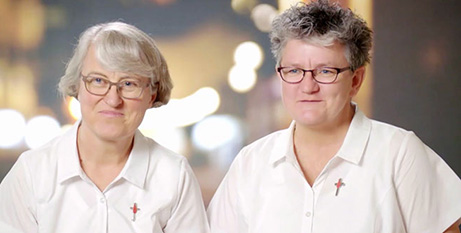 Sr Judy Bowe (left) and Sr Therese Mills of the Missionaries of Gods Love Sisters (Supplied)