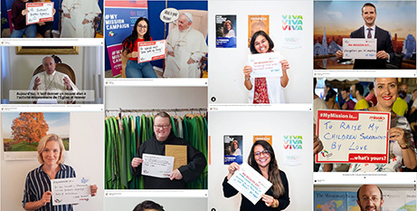 Thousands of people from across the world have posted on the online Mission Wall (Catholic Mission)