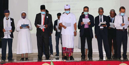 Religious leaders at the launch of the Timor-Leste Religious Tourism Association in Dili on Tuesday (UCA News/Arlindo Soares, USAID Tourism For All Project)