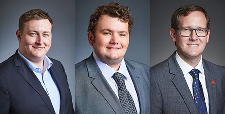 Aaron Stonehouse left, Kyle McGinn and Martin Aldridge have indicated they will support the  bill (Parliament of Western Australia)